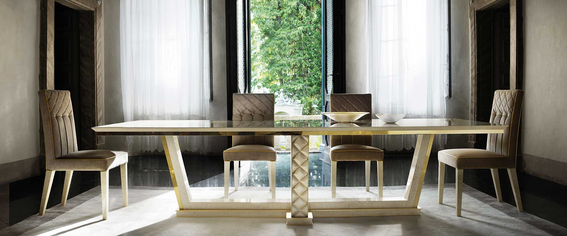 adora sipario dining table with chairs